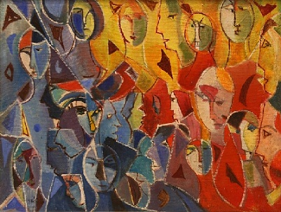 Menachem Helholz-or - Abstract crowd composition
