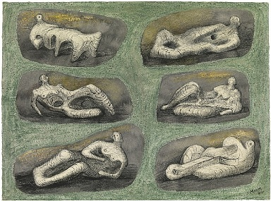 Henry Moore - Reclining Figures - Ideas for Stone Sculpture
