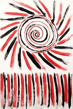 Sir Terry Frost - Spiral of Red and Black