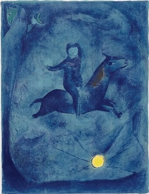 Marc Chagall - Mounting the Ebony Horse